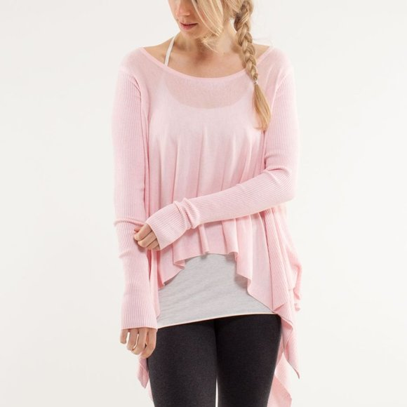 Lululemon Enlightened Pullover Yoga ~ Blush Quartz